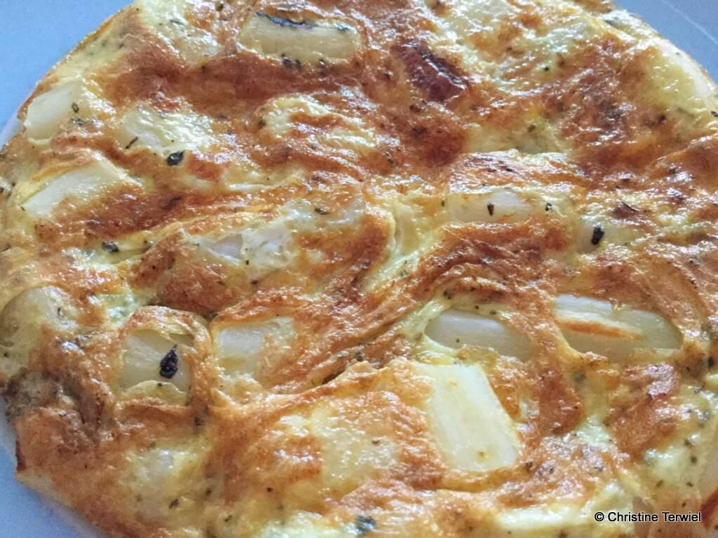 Omelet met schorseneren
